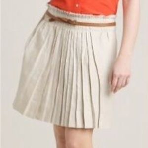 J Crew Pleated Skirt